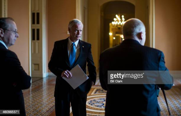 From left Paul Clement former United States Solicitor General Sen Ron Johnson RWisc and Rick Esenberg general counsel for the Wisconsin Institute for...