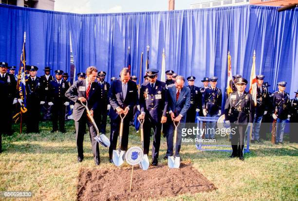 From left President and Chief Executive Officer of the National Law Enforcement Officers Memorial Fund Craig Floyd American politician US President...