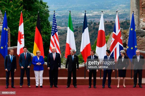 President of the European Council Donald Tusk Canadian Prime Minister Justin Trudeau German Chancellor Angela Merkel US President Donald Trump...