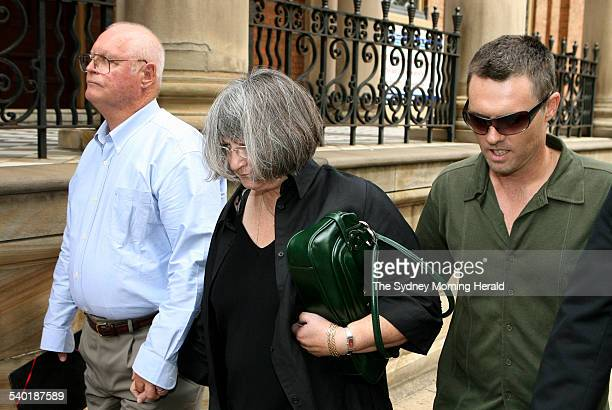From left Raymond and Margaret Sutton and their son Gregory Sutton leaving the Supreme Court King Street Margaret and Raymond are facing a...