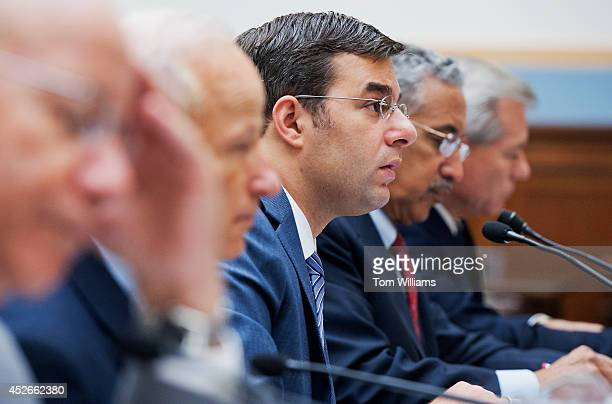 From left Reps Peter DeFazio DOre Mike Coffman RColo Justin Amash RMich Bobby Scott DVa and David Schweikert RAriz appear before a House Judiciary...