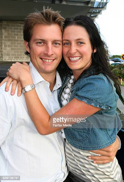 From left Rob Ashton and Jane Martino at the Acqua development at Grissini in Port Melbourne 9th Feb 2006 THE SUNDAY AGE EXPOSE Picture by SHANEY...