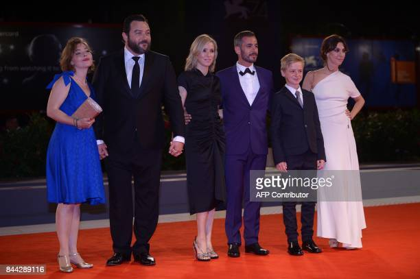 Sophie Pincemaille actor Denis Menochet Lea Drucker director Xavier Legrand actor Thomas Gioria and actress Mathilde Auneveux attend the premiere of...