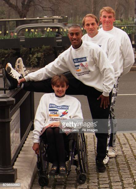 Tanni Grey winner of four individual gold medals at the 1992 Paralympic Games sprint hurdler Colin Jackson and Olympic rowers Steve Redgrave and...