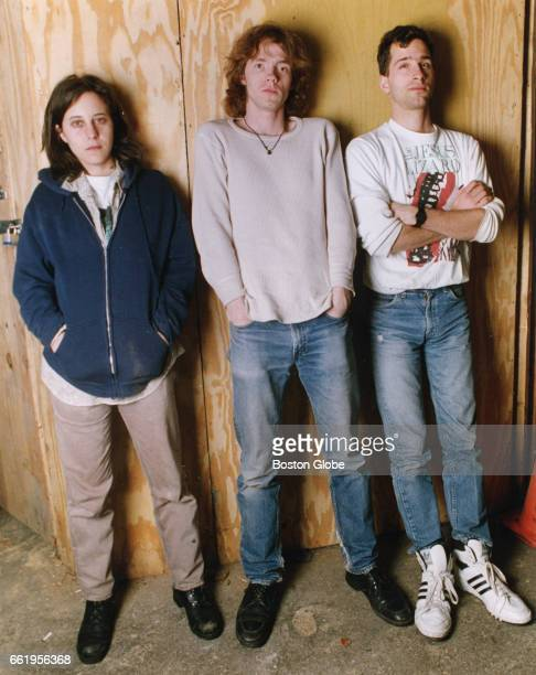 From left Thalia Zedek Chris Brokaw and Arthur Johnson of the band Come pose for a portrait in Boston on Jan 29 1992