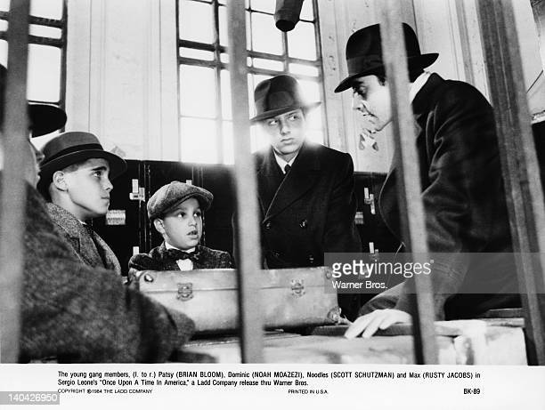 From left to right actors Brian Bloom Noah Moazezi Scott Schutzman and Rusty Jacobs in a scene from the film 'Once Upon a Time in America' 1984