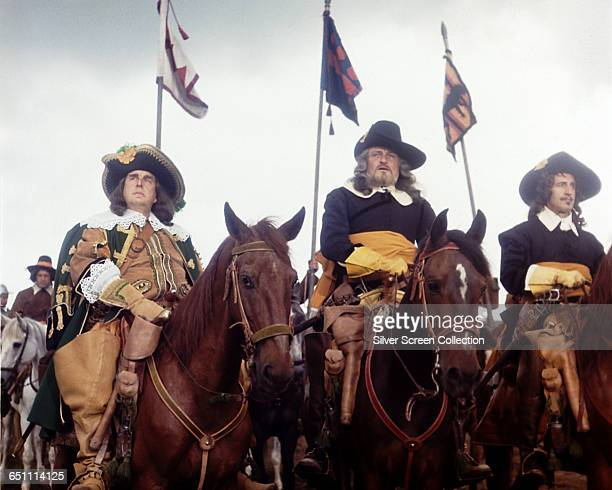 From left to right actors Robert Morley as The Earl of Manchester Charles Gray as The Earl of Essex and Douglas Wilmer as Sir Thomas Fairfax in the...