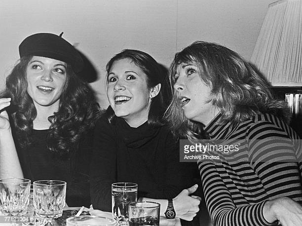 From left to right American actresses Amy Irving Carrie Fisher and Teri Garr circa 1978