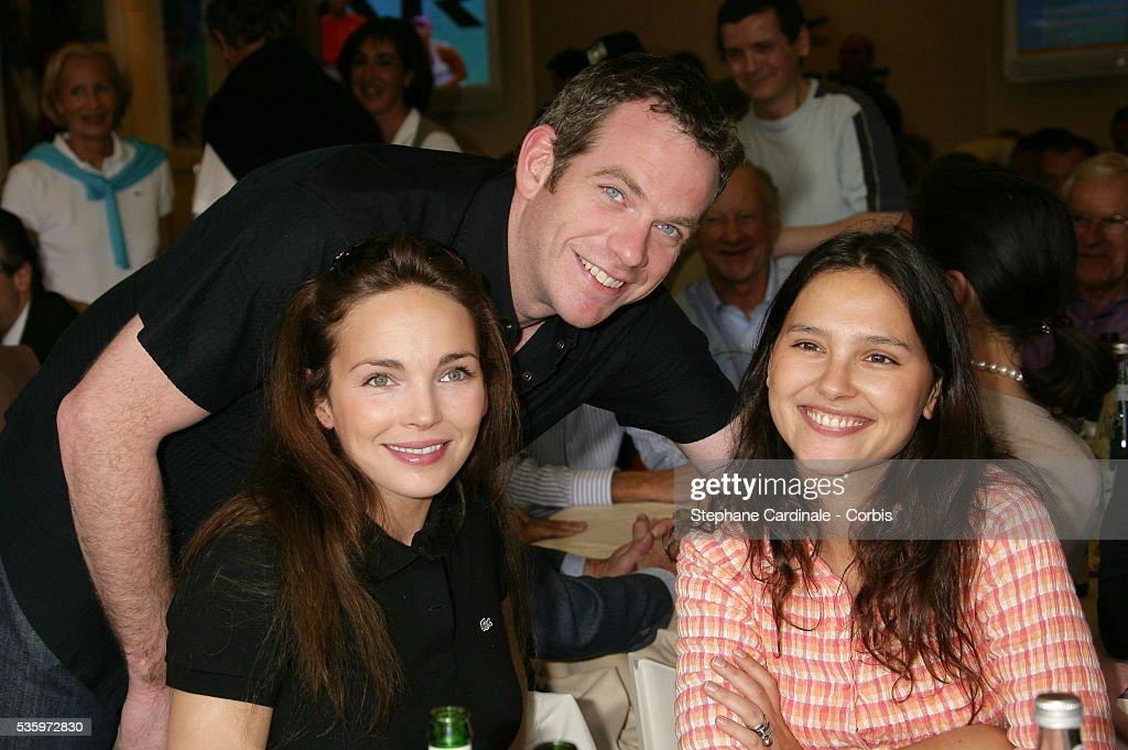 Claire Keim, Garou and Virginie Ledoyen at the Roland Garros Village.