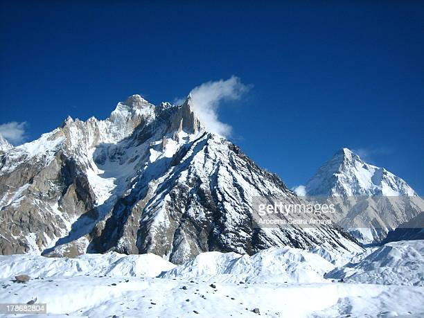 Cristal Peak Marble Peak and K2 in Concordia Concordia is the name for the confluence of the Baltoro Glacier and the GodwinAusten Glacier in the...