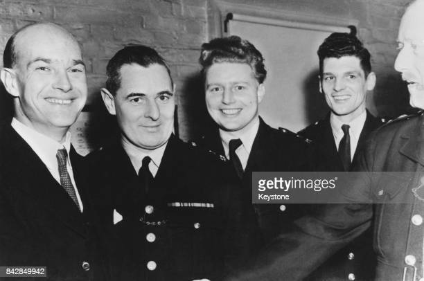 From left to right Detective Sergeant Frederick Fairfax Constable James McDonald Constable Norman Harrison and Constable Robert Jaggs after learning...