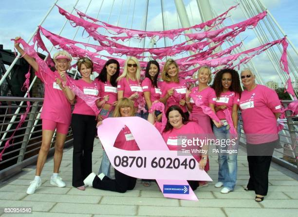 From left to right Diana Moran Natasha Kaplinsky Bond girl Catherine McQueen Emma B Bond girl Rachel Grant Jilly Johnson Sarah Greene Danielle Brown...