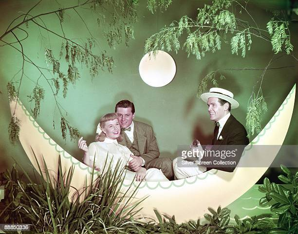 From left to right Doris Day as Marjie Winfield Gordon MacRae as Bill Sherman and Jack Smith as Hubert Wakely in 'On Moonlight Bay' 1951