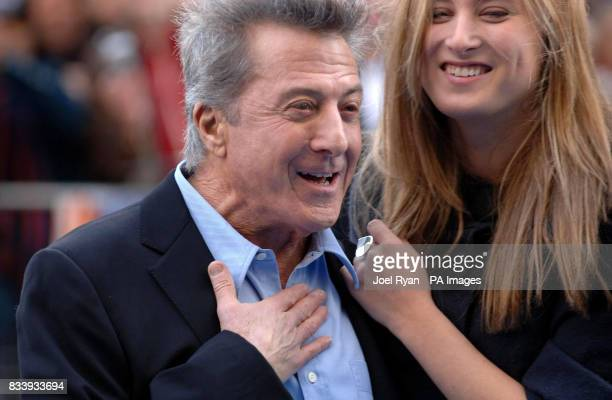 Dustin Hoffman and his daughter Ali arriving for the UK film premiere of Mr Magorium's Wonder Emporium at the Empire cinema in Leicester Square London