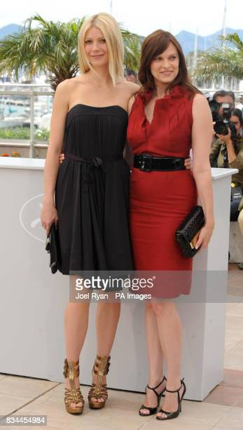 Gwyneth Paltrow and Vanessa Shaw attending a photocall for the film 'Two Lovers' at the 61st Cannes Film Festival France