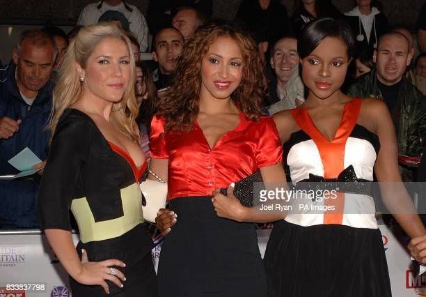 Heidi Range Amelle Berrabah and Keisha Buchanan from the Sugababes arrive for the Pride of Britain Awards 2007 The London Studios Upper Ground London...