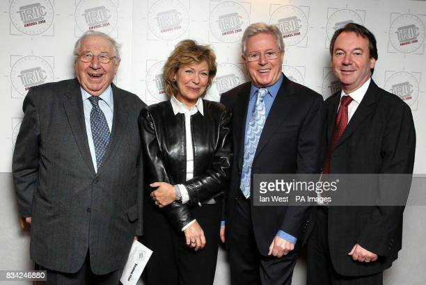 From left to right Henry Sandon Hilary Kay Michael Aspel and Eric Knowles from the Antiques Roadshow during the TRIC Awards held at the Grosvenor...