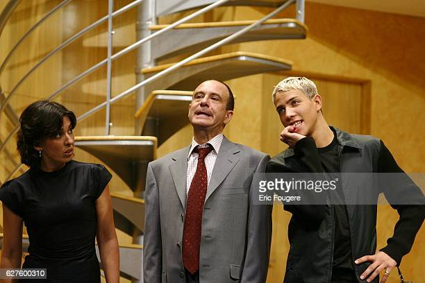 10/8/02 PARIS FRANCE From left to right Isabelle Alonso Gerard Miller and Steevy Boulay Photo by Eric Fougere/Corbis Sygma