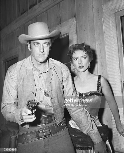 GUNSMOKE from left to right James Arness and Amanda Blake June 22 1955