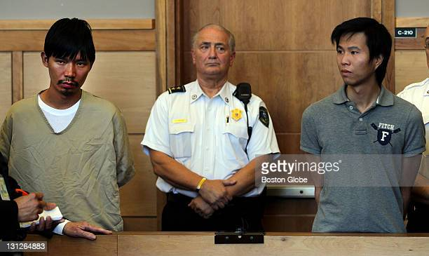 From left to right Sifa Lee and Jun Di Lin are arraigned for murder at Ipswich District Court