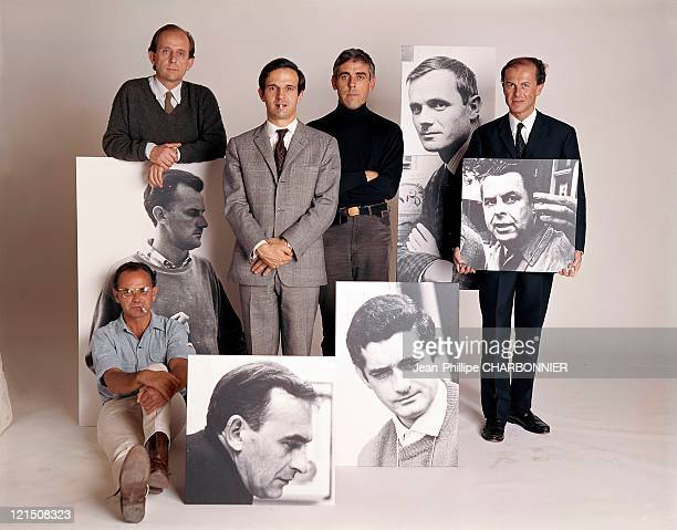 From Left To Right Standing Jacques Baratier Francois Truffaut Raoul Coutard And Jean Valere Sitting Pierre Kast In Picture From Left To Right Tony...