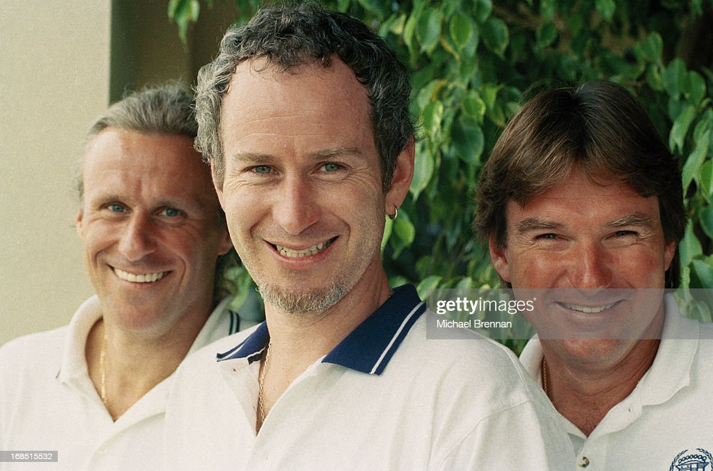 From left to right, Tennis champions Bjorn Borg, John McEnroe and Jimmy Connors in Naples, Florida, 1998.