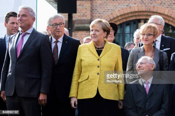 From left to right Thomas Strobl BadenWürttemberg state Christian Democratic Union party chairman JeanClaude Juncker president of the European...