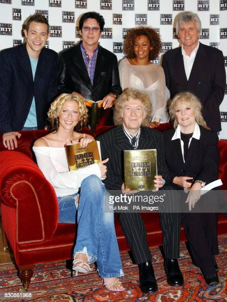 From left to right top row Pop Idol winner Will Young Shakin' Stevens Mel B and Bruce Welch front row Faye Tozer Noddy Holder and Petula Clark during...