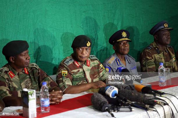 From left to right Valerio Sibanda commander of the Zimbabwe National Army Constantino Chiwenga commander of the Zimbabwe Defence Forces Augustine...