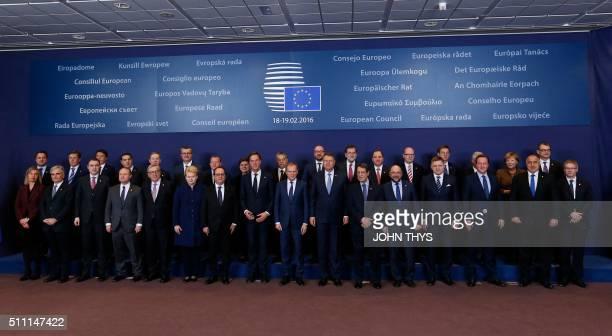 Luxembourg's Prime minister Xavier Bettel Latvia's Prime minister Maris Kucinskis Italy's Prime minister Matteo RenziGreece's Prime minister Alexis...