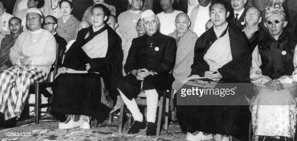 U Nu the former Prime Minister of Burma the Dalai Lama traditional religious and temporal head of Tibet's Buddhist clergy Jawaharlal Pandit Nehru...