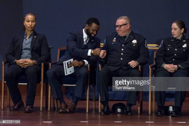 From left US Capitol Police Special Agents Crystal Griner David Bailey and Officers Kevin Jobe and Nicole Battaglia of the Alexandria Police...