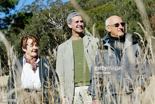 From left writers Libby Gleeson Nicholas Jose and David Malouf talk on their writings at Mittagong in the Southern Highlands of new SOuth Wales 28...