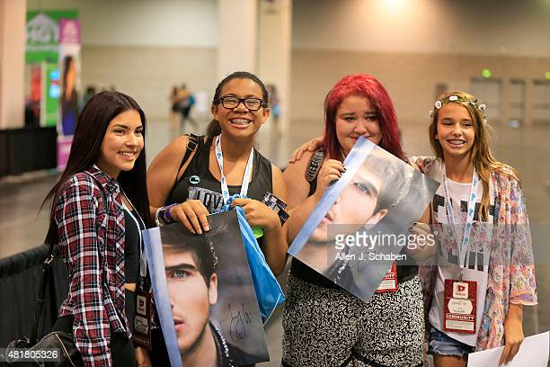 From left Yasmine Sanchez of Los Angeles Jayla Joseph of Des Moines Iowa Dessie Villeneuve of Salem Oregon Annie Nelson of Atlanta Georgia pose for a...