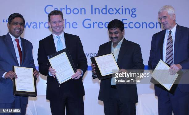 From Madhu Kannan Gregory Barker Sachin Ahir and Peter Beckingham during first ever workshop on Carbon Indexing Towards the Green Economy at BSE on...