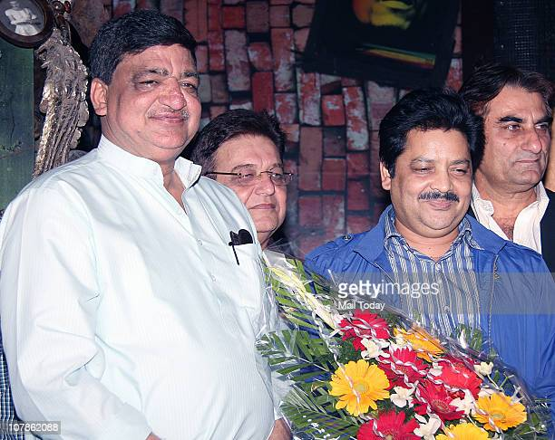 From Naresh Agarwal is being welcomed by Udit Narayan at Salma Agha's bash at Dockyard in Mumbai