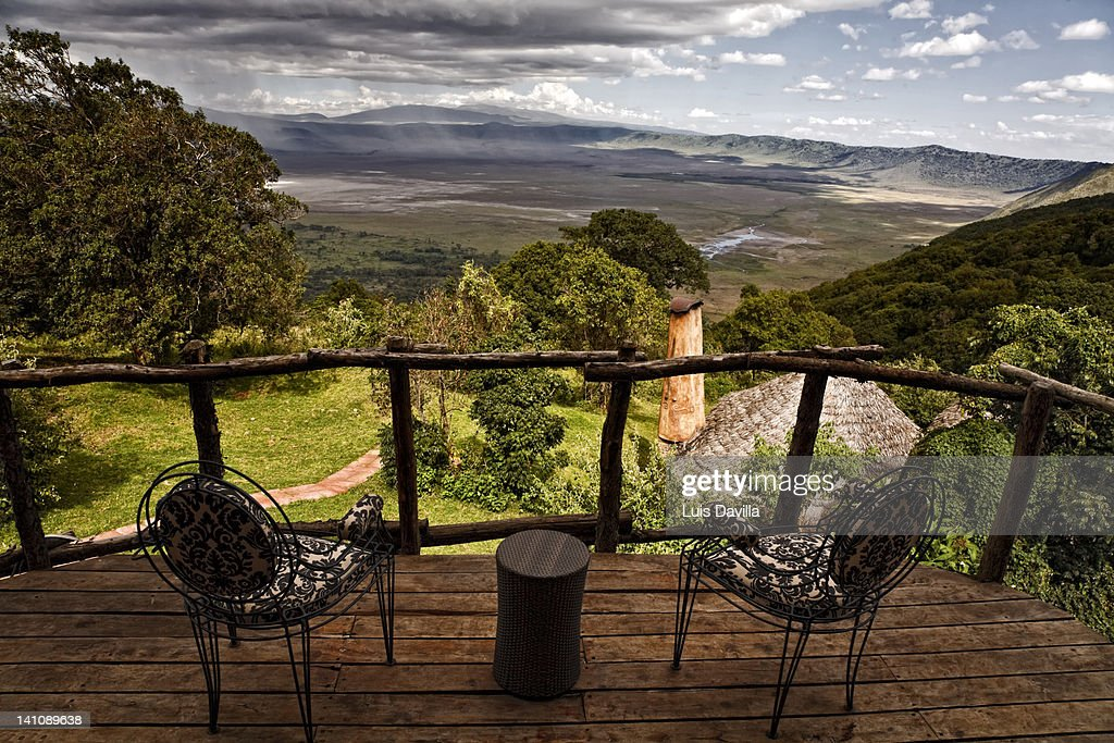 from ngorongoro crater lodge : Stock Photo