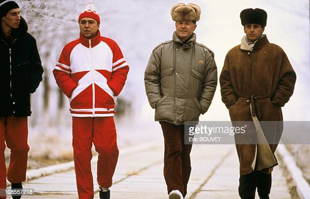 From right French astronauts Michel Tognini and JeanLoup Chretien with their Soviet counterparts in Kazakhstan on November 26th 1988