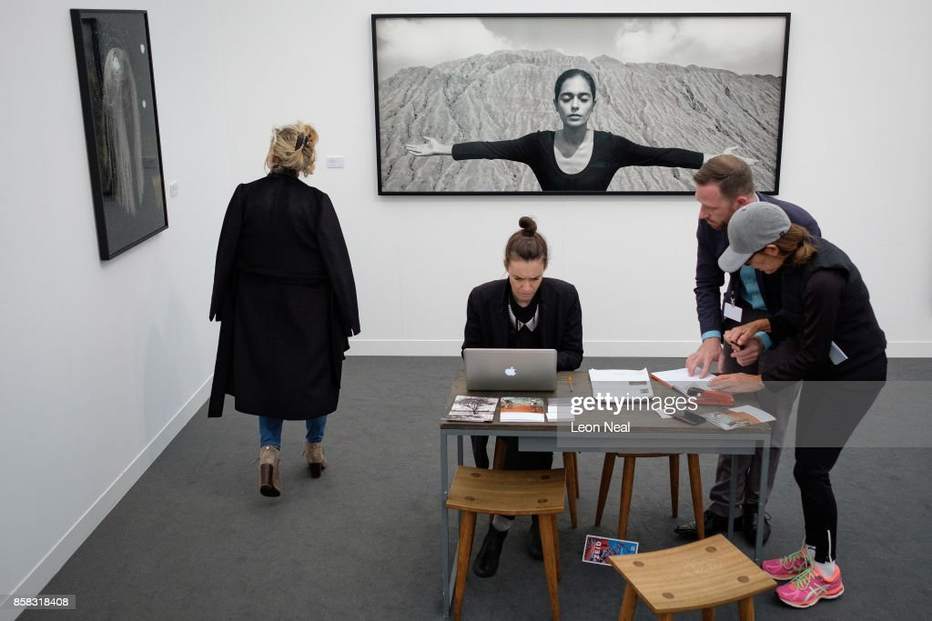 'From Roja Series' by Shirin Neshat is seen at the Frieze Art Fair on October 6, 2017 in London, England. The annual event sees galleries showcase work by thousands of artists from around the world. The Frieze Art Fair runs from 5-8 October, 2017.