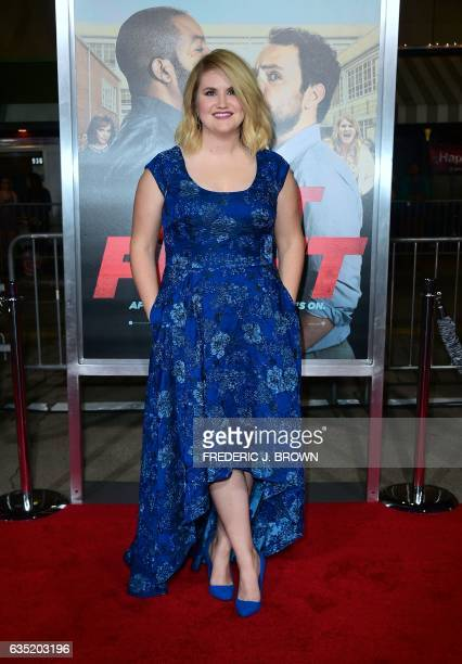 From the cast actress Jillian Bell arrives for the world premiere of the film 'Fist Fight' in Los Angeles California on February 13 2017 / AFP /...