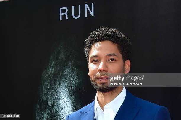 From the cast of 'Alien Convenant' actor Jussie Smollett arrives on the red carpet ahead of Sir Ridley Scott's Hand and Footprint ceremony in front...