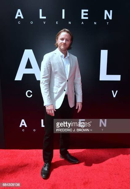 From the cast of 'Alien Convenant' actor Nathaniel Dean arrives on the red carpet ahead of Sir Ridley Scott's Hand and Footprint ceremony in front of...
