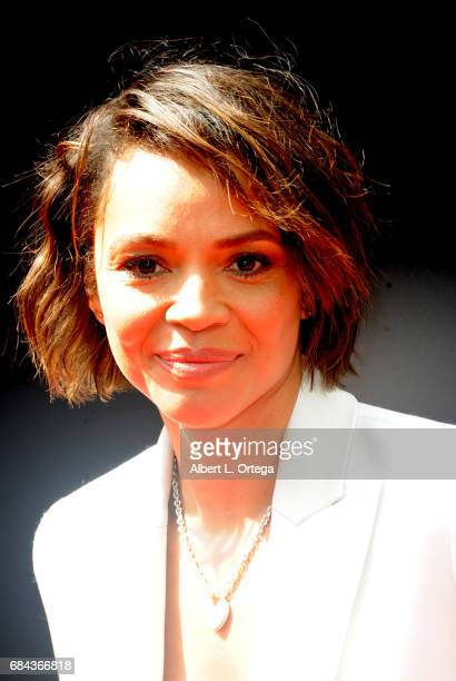 From the cast of 'Alien Convenant' actress Carmen Ejogo arrives on the red carpet ahead of Sir Ridley Scott's Hand and Footprint ceremony in front of...