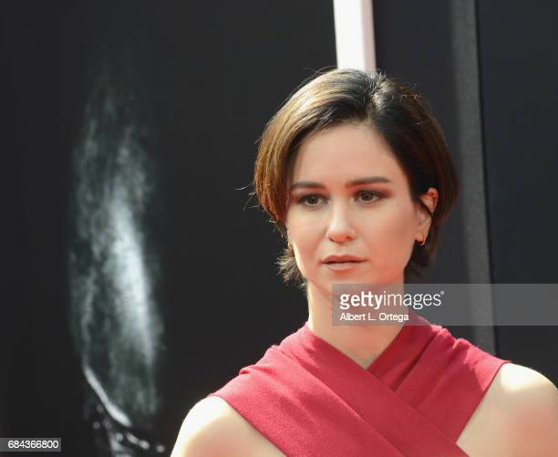 From the cast of 'Alien Convenant' actress Katherine Waterson arrives on the red carpet ahead of Sir Ridley Scott's Hand and Footprint ceremony in...