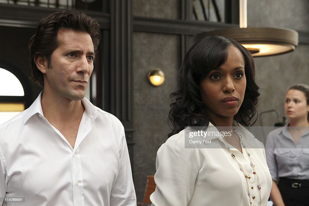 SCANDAL - From the creator and executive producers of 'Grey's Anatomy' and 'Private Practice' comes a drama revolving around the life and work of a professional crisis manager and her dysfunctional staff. 'Scandal' stars Kerry Washington as Olivia Pope, Henry Ian Cusick as Stephen Finch, Columbus Short as Harrison Wright, Guillermo Diaz as Huck, Darby Stanchfield as Abby Whelan, Katie Lowes as Quinn Perkins, Tony Goldwyn as President Fitzgerald Grant and Jeff Perry as Cyrus. 'Scandal' was written by Shonda Rhimes. Rhimes and Betsy Beers are executive producers. Paul McGuigan is the director. 'Scandal' is produced by ABC Studios.(Photo by Danny Feld/ABC via Getty Images)HENRY