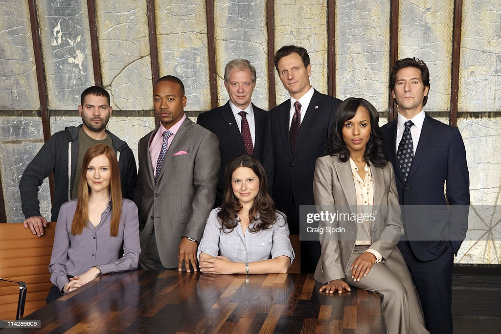 SCANDAL - From the creator and executive producers of 'Grey's Anatomy' and 'Private Practice' comes a drama revolving around the life and work of a professional crisis manager and her dysfunctional staff. 'Scandal' stars Kerry Washington as Olivia Pope, Henry Ian Cusick as Stephen Finch, Columbus Short as Harrison Wright, Guillermo Diaz as Huck, Darby Stanchfield as Abby Whelan, Katie Lowes as Quinn Perkins, Tony Goldwyn as President Fitzgerald Grant and Jeff Perry as Cyrus. 'Scandal' was written by Shonda Rhimes. Rhimes and Betsy Beers are executive producers. Paul McGuigan is the director. 'Scandal' is produced by ABC Studios.(Photo by Danny Feld/ABC via Getty Images)STANDING: GUILLERMO