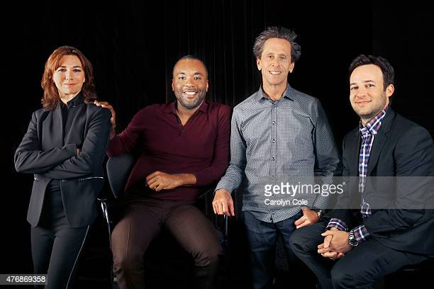 From the Fox hit show Empire Brian Grazer Lee Daniels Danny Strong Ilene Chaiken are photographed for Los Angeles Times on May 11 2015 in New York...