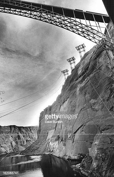 FEB 7 1971 JUN 1971 JUN 6 1971 From the Glen Canyon power plant steel cables alive with 345000 volts of electricity swoop upward more than 500 feet...