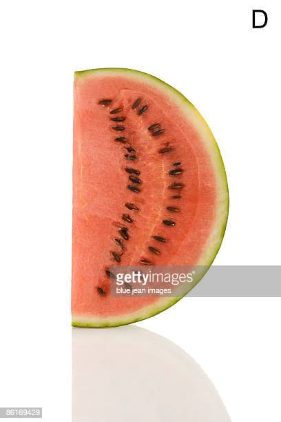 From the Health-abet, the Letter D, a watermelon.