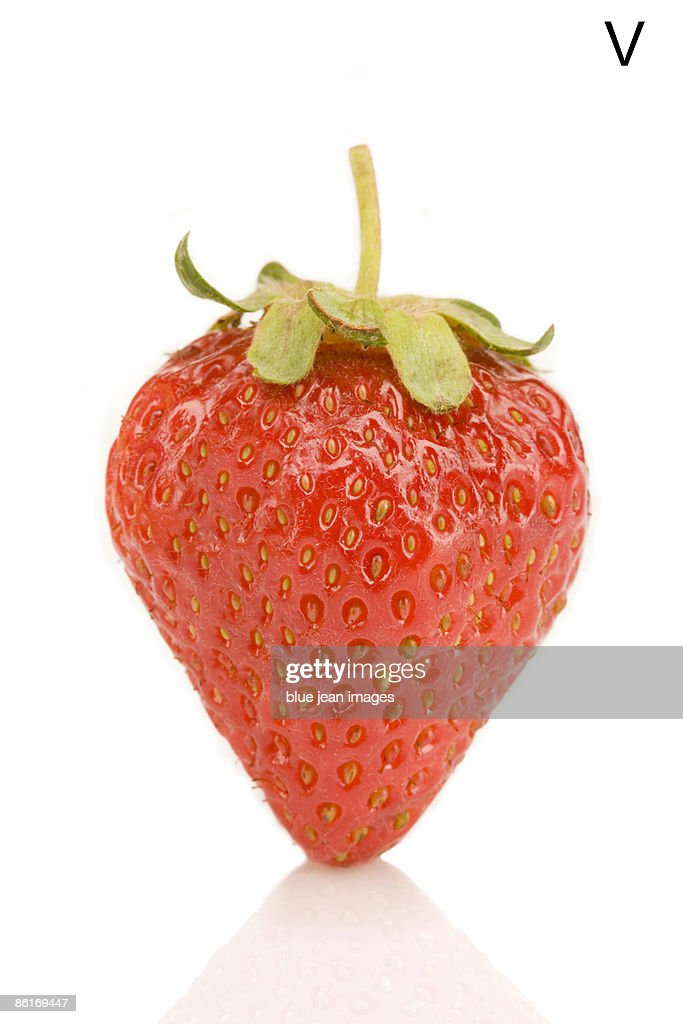From the Health-abet, the Letter V, a strawberry.